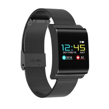 彩屏智能运动手环测心率血压手表小米男女防水计步器安卓oppo苹果 钢带