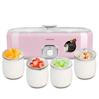 北欧欧慕(nathome)家用酸奶机 一次制作四种口自制老酸奶机 玻璃内胆4 杯优质玻璃杯
