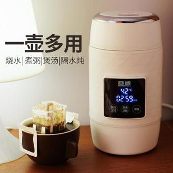 RW/容威 JP-DZ06全自动便携旅行电热水杯小型电炖烧水电煮杯小炖杯煮粥神器养生杯