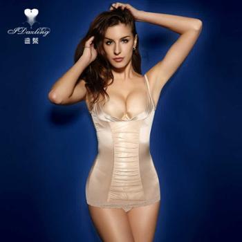 迪粲包邮丝滑超薄无痕收腹托胸塑形衣束身衣产后美体塑身上衣