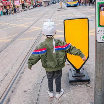 春季童装男童休闲夹克外套2018韩版时尚中大童宝宝上衣儿童夹克衫