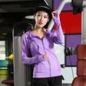 2018瑜伽服秋冬上衣运动帽衫跑步健身衣运动女士新款长袖外套