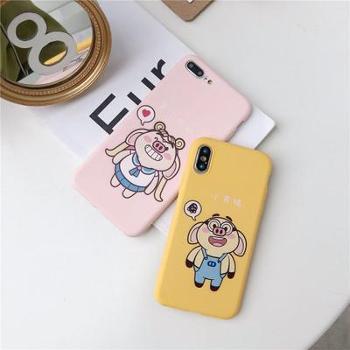 美少女战士猪适用iPhoneXSMAX手机壳oppoR15软tpu卡通搞怪X21颜色随机(可备注)