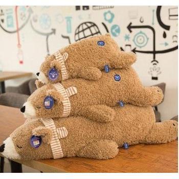 北极熊毛绒玩具趴趴熊公仔企鹅布娃娃抱枕大号儿童玩偶小礼物55cm