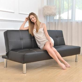 Z2款1.65米办公沙发床小户型可折叠两用皮艺质懒人双三人位实