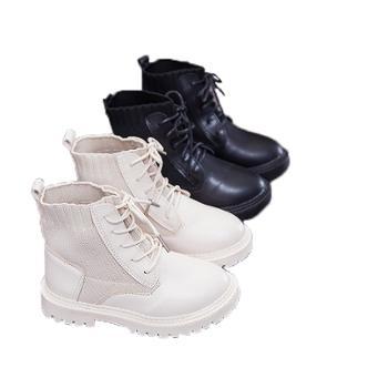 儿童马丁靴女童时尚短靴小女孩公主皮靴男童休闲单靴