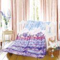 青海特惠 金丝莉法兰绒爱.在普罗旺斯.薰衣草毯