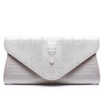 巴顿 新款女包牛皮鳄鱼纹手拿包 欧美风时尚真皮单肩链条女士包包 16082418
