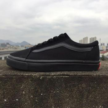欧美流行ulzzang黑白条原宿风板鞋复古休闲低帮学生帆布男女鞋滑