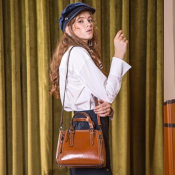 施悦名手提包包女2019春夏新款女包时尚个性斜挎包大气复古牛皮单肩包