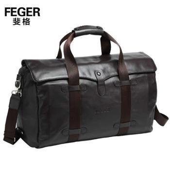 斐格男包牛皮手提斜挎包旅行包大容量商务行李包男士出差牛皮包9M630-7