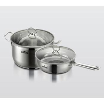 司顿煎炒锅+汤锅2件套 STH024