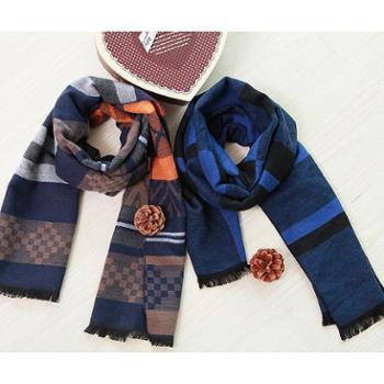 天琴北欧印象经典围巾(单条) TQ-W02 176x30cm 粘纤+聚酯纤维