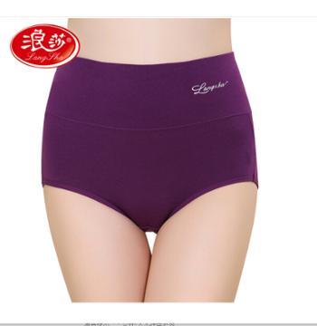 浪莎 女士纯棉质高腰三角内裤(2条)