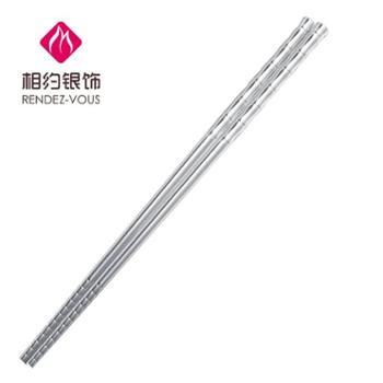 相约银饰足银纯银筷子银竹节筷子31克左右送礼纯银工艺品
