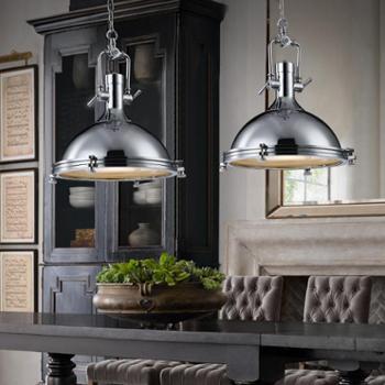 美式餐厅吊灯创意Loft复古工业风店铺饭厅别墅吊灯咖啡馆铁艺灯具