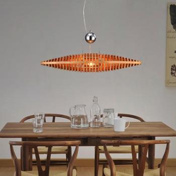 现代简约实木led吊灯客厅 大气创意个性饭厅吊灯餐厅书房卧室灯具