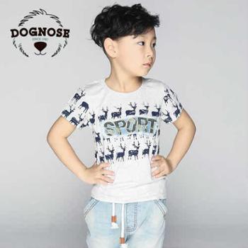 dognose2015夏装韩版新款圆领男童纯棉短袖T恤童装体恤夏季潮