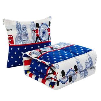 木辛梓 抱枕被多功能抱枕家用车用办公室午睡空调被子精梳棉
