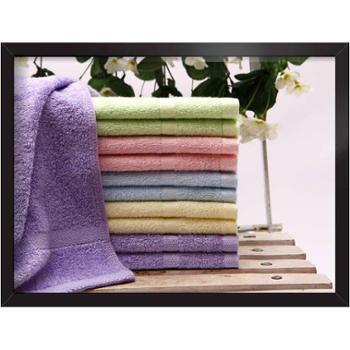 爱竹人100%竹纤维毛巾26cm*50cm满天星4条装