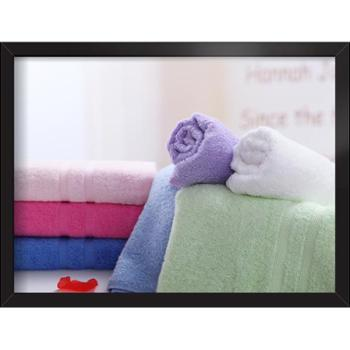 爱竹人100%竹纤维毛巾条缎毛巾4件套(34cm×74cm)