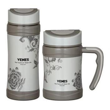 菲驰(VENES-VT037)梵客雅骨瓷内胆直杯 办公杯 水杯组合套装 直杯办公杯套装