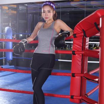 Paiyige新款瑜伽服套装速干背心七分裤套装运动训练健身服女瑜伽服两件套