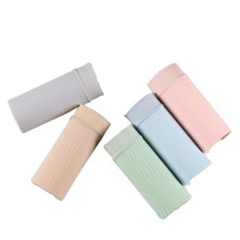 俞兆林日系女士纯棉内裤 新款女士纯色中腰五条礼盒装三角内裤