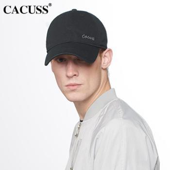 CACUSS刺绣棉质棒球帽子男士时尚潮帽男女春天棒球帽韩版