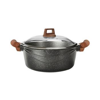 爱格 麦饭石不粘汤锅燃气通用