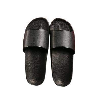 宜斯莱克一字凉拖鞋百搭黑白男士拖鞋厚底防滑轻质沙滩情侣韩版休闲浴室鞋