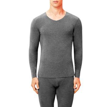 港莎保暖内衣套装男士自发热青年棉毛衫无痕磨毛加绒秋冬蚕丝里层