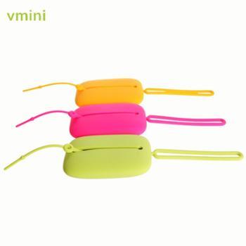 vmini硅胶钥匙包扣男女士可爱创意卡包硅胶多色果冻多功能卡片套
