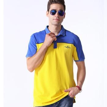 新洁霓男士POLO商务时尚撞色T恤17003