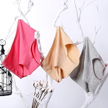 【2条装】馨霓雅女棉质内裤中高腰全棉质面料舒适加大码三角裤130-150斤