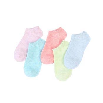 【5双装】馨霓雅船袜女士糖果色短棉袜6821