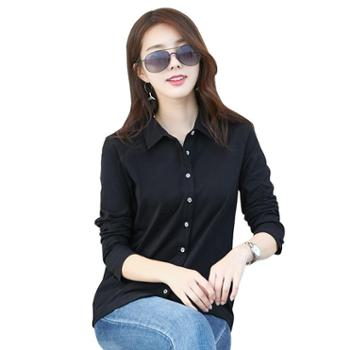 KEQI春款长袖衬衫女装棉质上衣2141-1