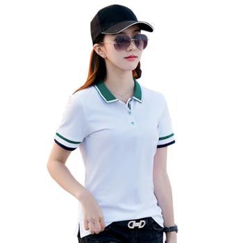 可祺撞色polo运动休闲T恤6721