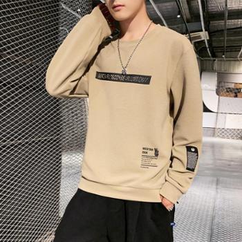 秋装新款韩版潮流打底衫上衣服秋衣男士卫衣潮白色长袖T恤XPY114