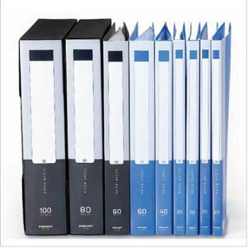 金得利CF40/A4资料册40页插页资料袋 办公用品整理透明册文件夹 单个商品