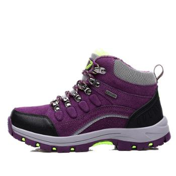 雷宾迪新款户外情侣登山鞋防滑耐磨加绒保暖徒步越野爬山鞋8011