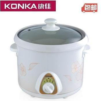 康佳 天然养生煲 三维立体加热电炖锅/陶瓷内胆电炖盅 3.5L容量 KGDG-611A