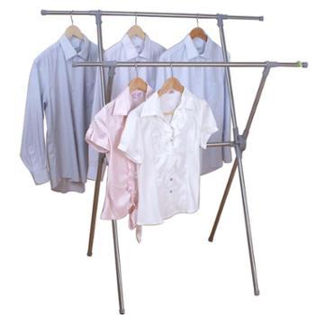 亿佰佳晾衣架X型落地衣服架 折叠晒衣架 室内外不锈钢挂衣架