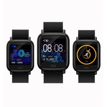 全动态V18新彩屏智能心率血压血氧监测运动计步1.3寸手环
