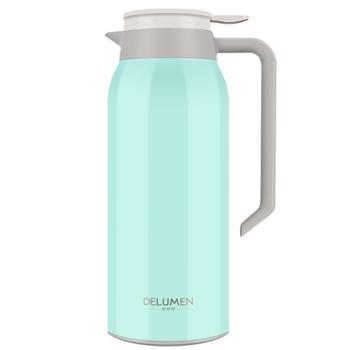 德鲁曼 摩根保温壶 蒂芙尼蓝 锈钢真空热水壶保温瓶暖壶DLH-1500
