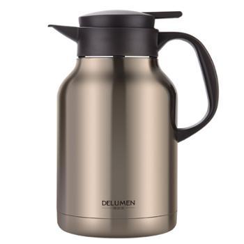 德鲁曼 双层真空保温壶 开水瓶高档家用热水壶大容量2.2L不锈钢暖瓶
