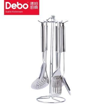 Debo德铂马可里奥厨房工具不锈钢锅铲漏勺汤勺6件套