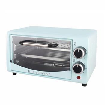 艾拉厨房 电烤箱家用多功能12L迷你烘焙烤地瓜披萨