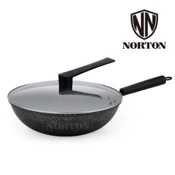 诺顿 聚味麦饭石煎炒锅1JJW032精铁锅