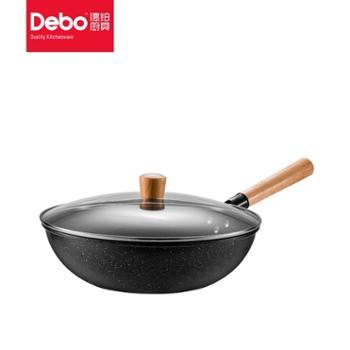 Debo德铂高拉特炒锅不粘烹饪炒菜锅32cm